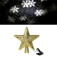 LED Kerstboom Top Star Projectie Lamp Blizzard draaibare projectie licht  Plug Type: EU Plug (Goud)