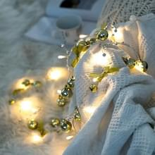 2m 20LEDs Kerst string verlichting kerstklokken bal decoratie lamp  stijl: Gold Bowknot Bell