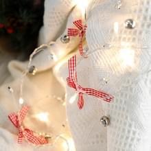 2m 20LEDs Christmas String Lights Christmas Bells Ball Decoration Lamp  Style: Lattice Bowknot Bell