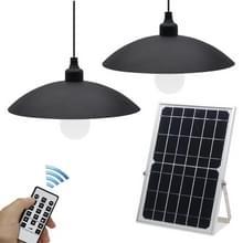 Solar Garden Wall Lamp Outdoor Waterproof Dual Light Color Smart Afstandsbediening Straatlicht  Stijl: Dubbele kroonluchters
