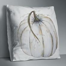 2 PCS Halloween Pumpkin Short Pluche Super Soft Pillowcase Decoration zonder Pillow Core (White Pumpkin)
