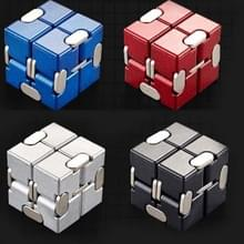 Infinite Cube Alloy Aluminium Decompressie Speelgoed Vingertop Cube (Zilver)