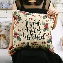 Kerstversiering Imitatie Gebreide kussensloop zonder pillow core (zwarte letters)