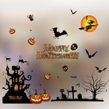 5 PCS Halloween Decoratie Producten Window Stickers Shopping Malls Hotel Halloween Color Electrostatic Stickers  Random Style Delivery