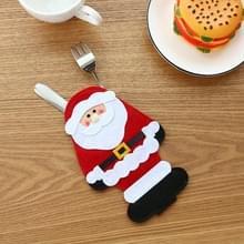 10 PCS kerstmes en vork cover kerstversiering( Ouderen)
