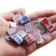 1:12 DIY cute Dollhouse Poker speelkaarten stijl Random mini Poker Doll accessoires