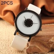 2st vrouwen mannen horloges casual merk zachte siliconen riem Jelly quartz horloge horloges voor dames liefhebbers zwart wit