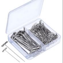 T-Needle combinatie dubbele specificatie combinatie pruik Fixing  grootte: 32mm-100 stuks + 38mm-100 stuks
