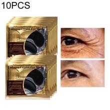 5 pack /10 PC's Black Eye Mask Crystal Gel zwart masker voor de ogen donkere kringen Antipufiness tijdloze hydraterende Eye Patch verwijderen