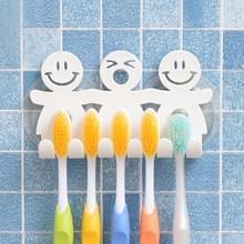 5 PC'S cute smiley zuignap opknoping tandenborstel houder kunststof kleine persoon tanden houder