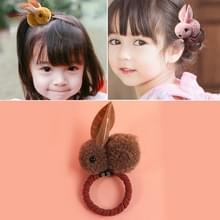 Dieren haar bands voelde drie-dimensionale pluche konijn oren hoofdband kinderen meisjes haaraccessoires  grootte: 6.5 x 5.5 cm (bruin)