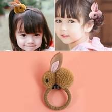Dieren haar bands voelde drie-dimensionale pluche konijn oren hoofdband kinderen meisjes haaraccessoires  grootte: 6.5 x 5.5 cm (geel)