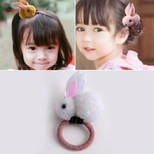 Dieren haar bands voelde drie-dimensionale pluche konijn oren hoofdband kinderen meisjes haaraccessoires  grootte: 6.5 x 5.5 cm (wit)