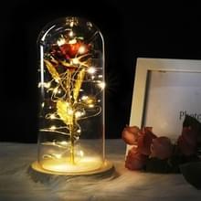 Simulatie rozen lichten glazen cover decoraties ambachten valentines dag geschenken (Multicolor)