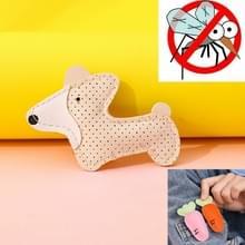 Mosquito Repellent Buckle PU Anti-mug Clip voor kinderen volwassenen (Witte Puppy)