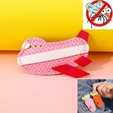 Mosquito Repellent Buckle PU Anti-mug Clip voor kinderen volwassenen (Roze Vliegtuig)
