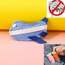 Mosquito Repellent Buckle PU Anti-mug Clip voor kinderen volwassenen (Blauw vlak)