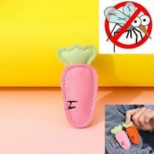 Mosquito Repellent Buckle PU Anti-mug Clip voor kinderen volwassenen (Roze Wortel)