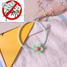 10 PCS Flower Mosquito Insectenwerend middel Outdoor Travel Anti-mug Armband (LichtGroen)