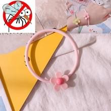 10 PCS Flower Mosquito Insectenwerend middel Outdoor Travel Anti-mug Armband (Roze)
