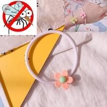 10 PCS Flower Mosquito Insectenwerend middel Outdoor Travel Anti-mug Armband (Oranje)
