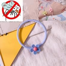10 PCS Flower Mosquito Repellent Bracelet Outdoor Travel Anti-mosquito Bracelet(Blauw)
