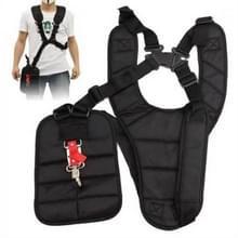 Double breasted schouder harnas kant riem voor borstel cutter (zwart)