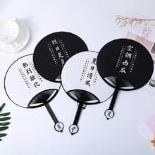 10 PCS Cartoon Circular Home Group Fan Out Portable Hand Fan  Random Color Delivery (Summer Things)