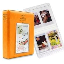 64 zakken naam kaart stukken voor Fujifilm Instax Mini 8/7s/70/25/50s/90 (oranje)