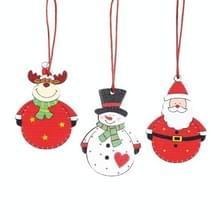 4 Dozen Big Belly Old Man Sneeuwman Elk Decoratie Kerst Houten Hanger Kerstboom Decoratie