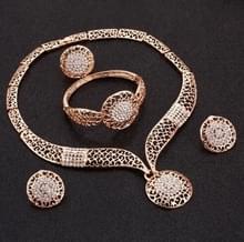 Strass sieraden Parure(Gold) instellen bruiloft kralen Crystal bruids juwelen