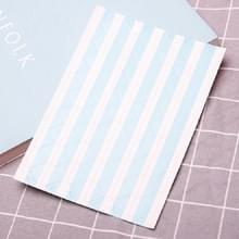 Les Boek Corner Protector Foto Scrapbook Album Foto Frame Decoratieve Hoek Sticker (Blauw Wit Achtergrond)