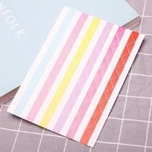 Les Boek Corner Protector Foto Scrapbook Album Foto Frame Decoratieve Hoek Sticker (Kleurrijke witte achtergrond)