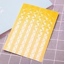 Les Boek Corner Protector Foto Scrapbook Album Foto Frame Decoratieve Hoek Sticker (Transparante gele achtergrond)