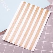 Les Boek Corner Protector Foto Scrapbook Album Foto Frame Decoratieve Hoek Sticker (Goud op Wit)
