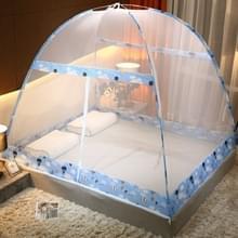 Gratis installatie van Yurt Double Door Encryption Verdikt Mosquito Net  Grootte:120x200 cm(Hot Air Balloon-blue)