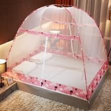 Gratis installatie van Yurt Double Door Encryption Verdikt Mosquito Net  Grootte:120x200 cm(Hot Air Balloon-pink)