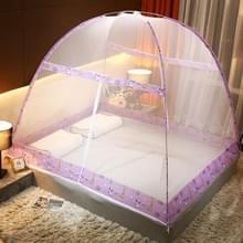 Gratis installatie van Yurt Double Door Encryption Verdikt Mosquito Net  Grootte:120x200 cm(Zoo- paars)