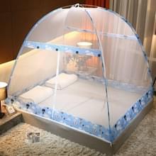 Gratis installatie van Yurt Double Door Encryption Verdikt Mosquito Net  Grootte:150x200 cm(Hot Air Balloon-blue)