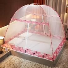 Gratis installatie van Yurt Double Door Encryption Verdikt Mosquito Net  Grootte:150x200 cm(Hot Air Balloon-pink)