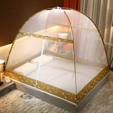 Gratis installatie van Yurt Double Door Encryption Verdikte Klamboe  Grootte:150x200 cm(Zoo-gamma)