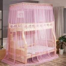 Dubbellaags stapelbed Telescopische Ondersteuning Vloer-op-kind Bed Mosquito Net  Grootte:90x190 cm( Roze)