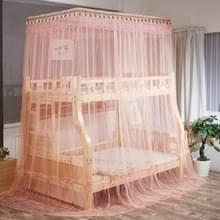 Dubbellaags stapelbed Telescopische ondersteuning vloer-op-kind Bed Mosquito Net  Grootte:90x190 cm(Jade)