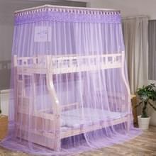 Dubbellaags stapelbed Telescopische ondersteuning vloer-op-kind Bed Mosquito Net  Grootte:120x190 cm(Paars)
