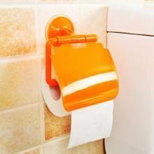 2 stuks kleurrijke waterdichte kunststof toilet badkamer keuken muur gemonteerde Roll papier houder vervoerder huis decoratie tools (oranje)