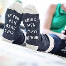 3 STKS contrast kleur Engelse mannen en vrouwen katoenen sokken (donkergrijs)