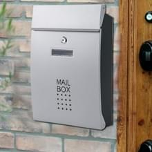 Residentiële voordeur buiten muur gemonteerde mailbox verticale Lock mailbox  stijl: zilveren deur Black Box