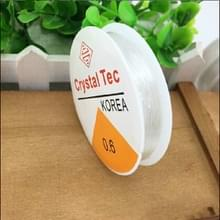 5 PC'S transparante visserij lijn elastische lijn DIY handgemaakte sieraden accessoires materiaal kralen kraal draad touw  grootte: 0.6 mm