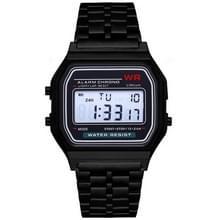Mannen sport horloges militaire Quartz LED digitale waterdichte Quartz gouden vrouwen mannen horloge (zwart)
