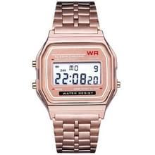 Mannen sport horloges militaire Quartz LED digitale waterdichte Quartz gouden vrouwen mannen horloge (Rose goud)